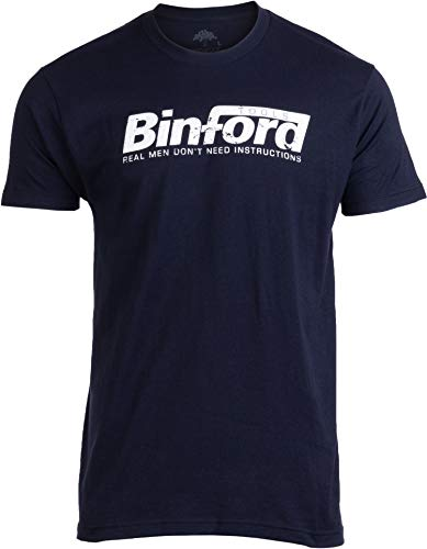 Binford Tools | Funny 90s TV Handyman Tool Humor Unisex T-Shirt-M Navy - Time Improvement Tool Home