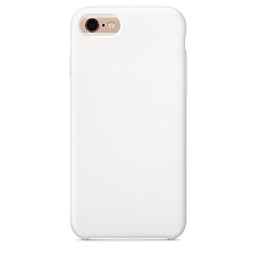 GHC Cases & Covers, Für iPhone 6 & 6s, reine Farbe flüssiges Silikon + PC-schützender rückseitige Abdeckungs-Fall ( Size : Ip6g0423w )