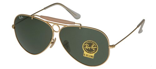 Ray Ban Shooter RB3138 001 58 mm Green Lenses - Ray Ban Aviator Optics