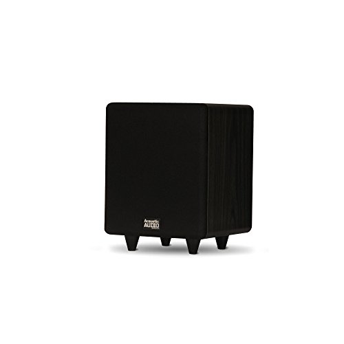 Acoustic Audio PSW250-6 Home Theater Powered 6.5″ LFE Subwoofer Black Front Firing Sub