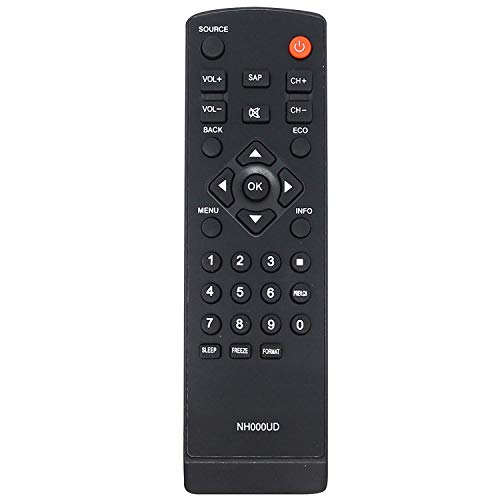 New Replaced Nh000UD Nh001UD Remote fit for Emerson Sylvania Lc260em2 Lc320em2 Rlc320em1 Lc220em1 Rlc220em1 Lc401em3f Lc320em3f Rlc370em2 Lc370em2 Rlc320em2f Rlc320em2 Lc401em2f Lc401em2 Lc320em2f (Control Emerson Remote Lc320em1)