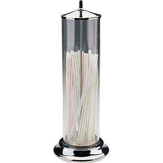 Winware Straw Dispenser. High quality chrome and perspex straw dispenser. (Supplied empty). by Winware
