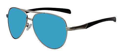 w de Silver Gafas Plata sol azul Gafas sol hombres blue para de espejo sesgada Guía TIANLIANG04 hombres mirror gafas masculina w de Solo sol RpvwqFaw