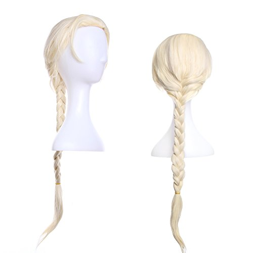 Crazy Genie Harajuku Style Party Cosplay Wigs with Free Wig Cap (White)