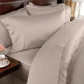 4 Piece LUXURIOUS 1500 Thread Count CAL KING Size Siberian Goose Down Comforter SET 100%EGYPTIAN COTTON, BEIGE SolidColor, 1500 TC - 750FP - 50Oz.