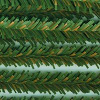 "Package of 90 Bendable, Flexible, Decorative Artificial Pine Stems Each 12"" Tall"