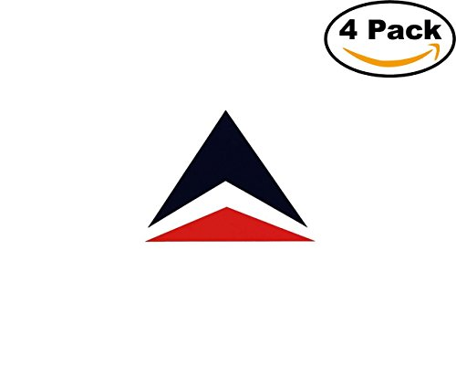 Airlines Delta Air Lines Logo 4 Stickers 4X4 Inches Car Bumper Window Sticker Decal