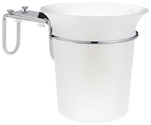 Taymor Acrylic Bathtub Ice Bucket with Chrome Bracket
