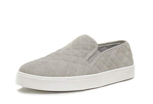 SODA Alone Dove Gray Quilted Sneakers (7) gray ()