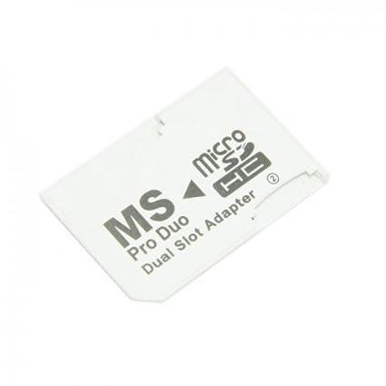 Doble ranura microSD TF a MS Memory Stick Pro Duo adaptador Sony PSP & funda para teléfono cablecc