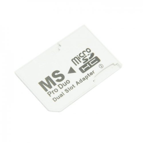 2 Gb Transflash Microsd (Dual Slot MicroSD TF To MS Memory Stick Pro Duo Adapter Sony PSP & Mobile Phone CableCC)