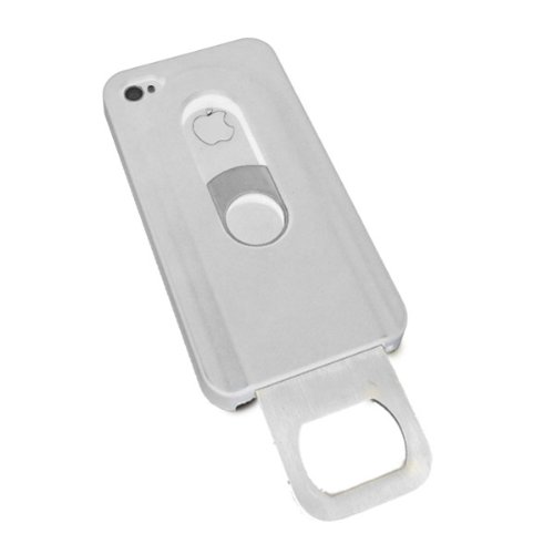 iMental Case iPhone 4S Sliding Stainless Steel Bottle Ope...