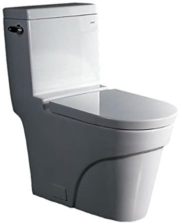EAGO TB326 Ultra Low Flush Eco Friendly Toilet, 1 Piece