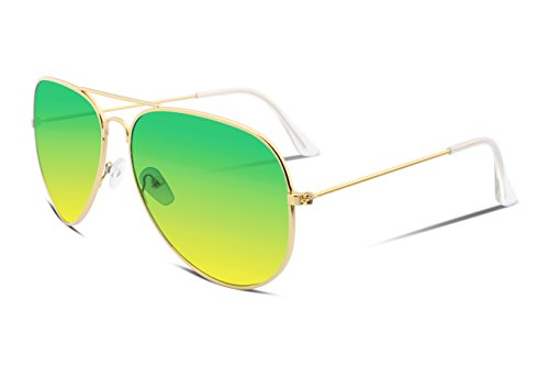 FEISEDY Retro Aviator Sunglasses Gradient Lens Men Women Brand Sunglasses - Gradient Lens Sunglasses