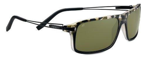 Serengeti Flex Rivoli Sunglasses, Polarized 555nm, Satin Black Tortoise