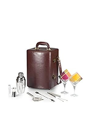 Picnic Time Manhattan Insulated Two-Bottle Cocktail Case/Bar Tool Kit