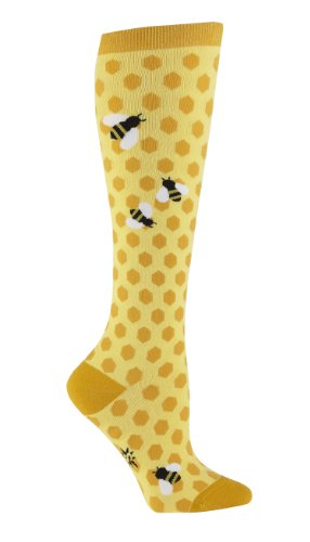Sock It To Me Bee's Knees Women's Knee High Socks women's shoe size (Cute Thing One And Thing Two Costumes)