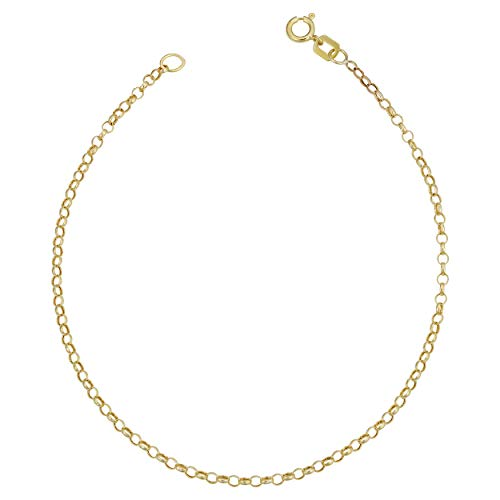 - Kooljewelry 14k Yellow Gold Rolo Chain Bracelet (1.9 mm, 7 inch)