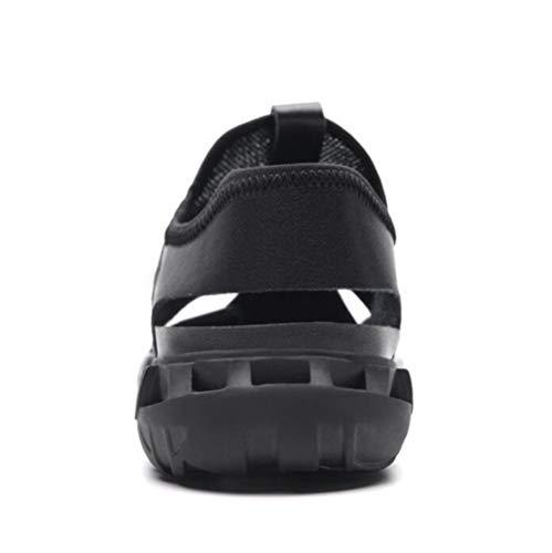 Deportes Respirables Los YWNC De De Verano 2018 Black Antideslizante Zapatos Playa De Al De Los Aire Sandalias Libre Nuevo Hombres Ocio frntrx7q