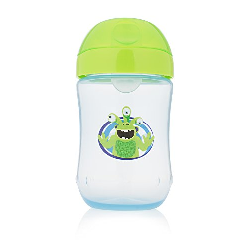 - Dr. Brown's Soft-Spout Toddler Cup, Monster Blue/Green, 9 Ounce, Single