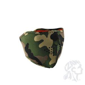 Zan Headgear Reversible Half Mask, Camo/High-Vis Orange