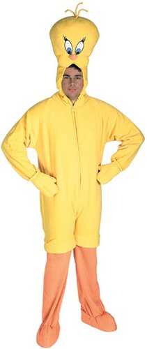 Looney Tunes Tweety Bird Adult Costume, Yellow, Standard ()