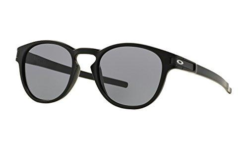 Oakley Latch Sunglasses Matte Black with Grey Lens + - Crystal Oakley Black