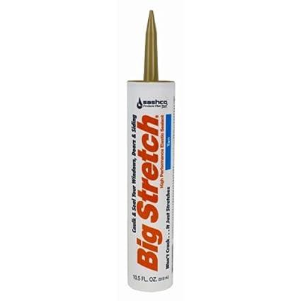 Sashco Big Stretch Acrylic Latex High Performance Caulking Sealant, 10.5 oz Cartridge, Clear 10006 10.5oz