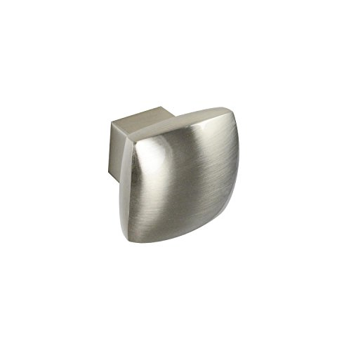 (#2844 CKP Brand 1-3/16 in. (30mm) Rounded Square Knob, Brushed Nickel - 10 Pack)