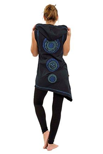 Thapa FANTAZIA avec asymetrique Noir capuche Tunique qECRE6v