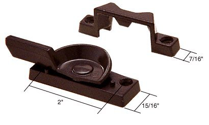 Bronze Window Sash Lock; 2'' Screw Holes