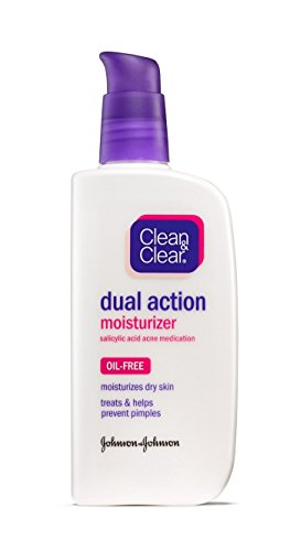 Cln Clr Dual Mosit Size 4 Oz Clean Clear Oil-Free Dual Action Moisturizer