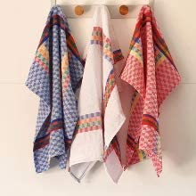 Thick and Super Absorbent Tea Towels Cotton ElfRoutes Tea towels set 60 * 60 Kitchen Towels white Mediterranean Design from Spain. 3 Pieces