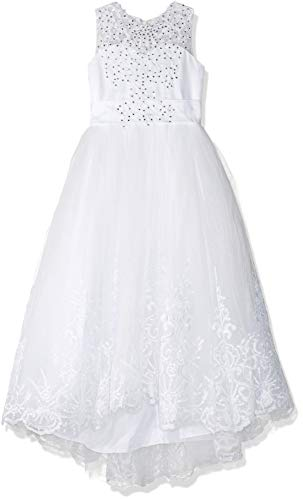 Princess Ivory Long Girls Pageant Dresses Kids Prom Puffy Tulle Ball Gown US 6]()