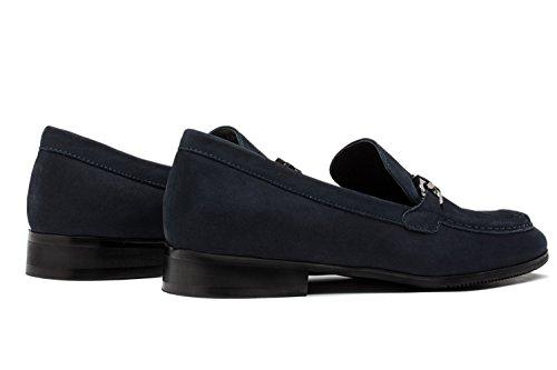 Pour en Ville Cuir Mocassins OPP Bleu de Chaussures Hommes Loafers qxTp0Sw7
