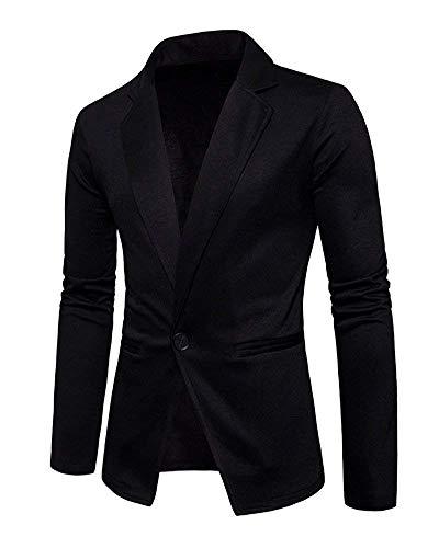 Slim Veste Les De Tailles Pour Schwarz Blazer Couleur Fit Vestes Mariage Unie Hommes Confortables Loisirs Prom Costume R4tvtxnqw7