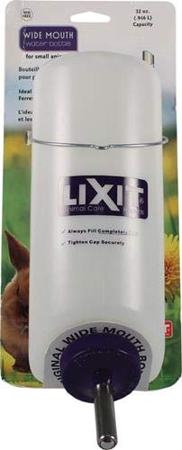 LIXIT Plastic Wide Mouth Water Bottle, 32-Ounce