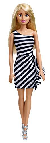 (Barbie Glitz Doll, Black & White Stripe Ruffle)