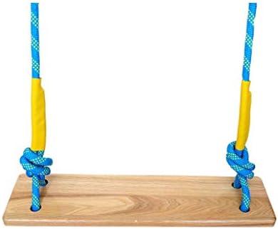 折りたたみスイング 高品質ナイロンロープ+木製スイング大人子供と青少年スイング席用屋外遊び場中庭屋内300キログラム 調整可能なスイング (サイズ : B)