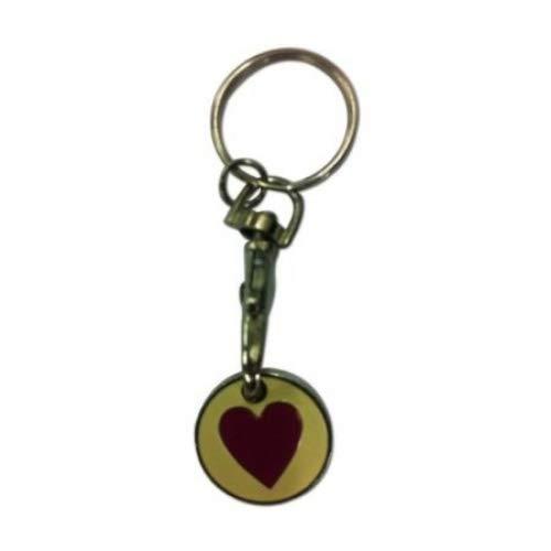 Shopping Trolley token or shopping trolley coin - Heart design: Amazon.es: Hogar
