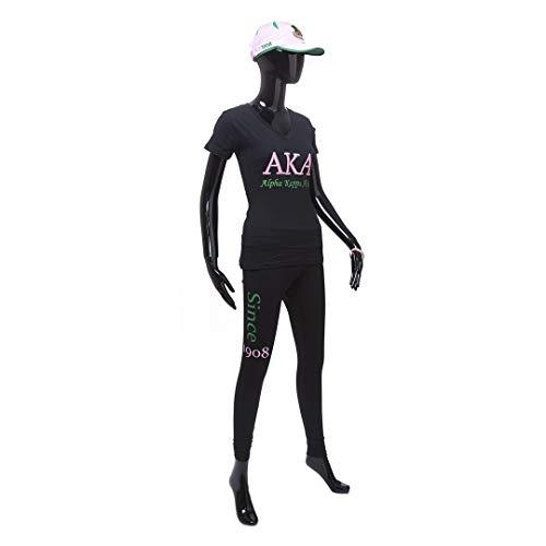 Alpha Kappa Alpha New 3D Embroidered Signature T-Shirt Size Medium