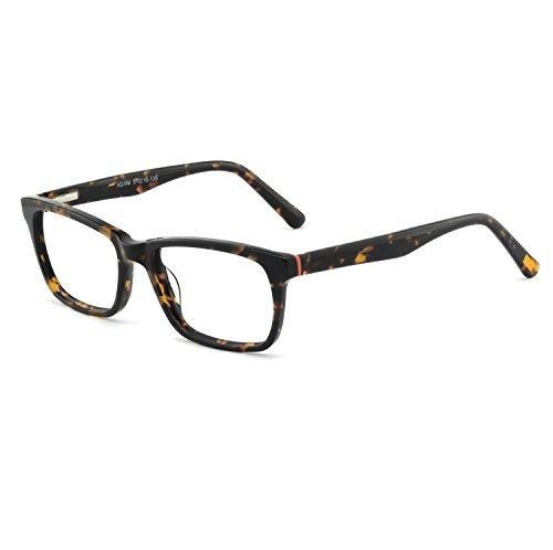 OCCI CHIARI Men And Women Fashion Causal Eyeglasses Frames With Clear Lenses (Tortoise, 51)