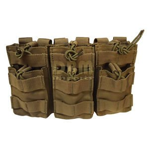 TAN Molle Triple STACKER .223 5.56 MAG Pouch Ammo Carrier...