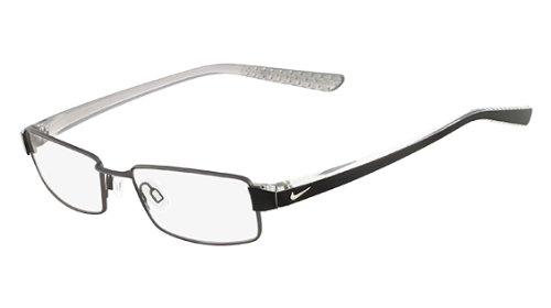 Nike Eyeglasses 8065 013 Matte Dk Gunmetal/Crystal Demo 51 17 - Glasses Nike Case
