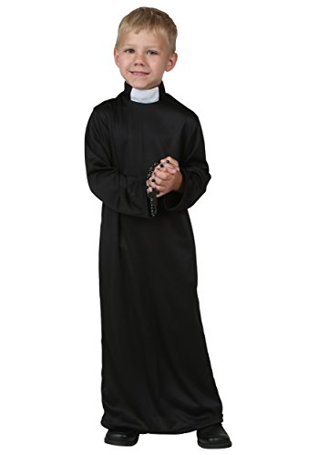 Little Boys' Priest Costume 4T Black,White -