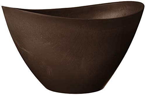 Arcadia Chocolate - Arcadia PSW YB41C Swoop Pot, 16 by 12 by 9-Inch, Chocolate