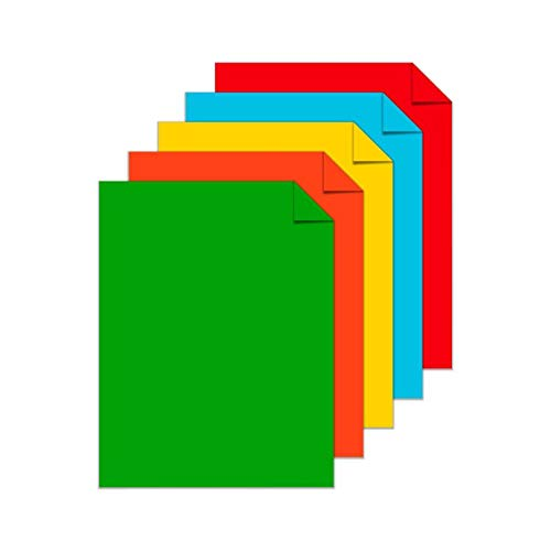 Astrobrights Color Card Stock, 8 1/2'' x 11'', FSC Certified, 24 Lb, 30% Recycled, Assorted Colors, Ream Of 500 Sheets by Astrobrights