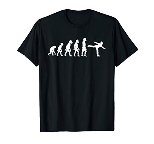 Funny Human Ice Hockey Player Evolution Skater Ice Skating T-Shirt ()
