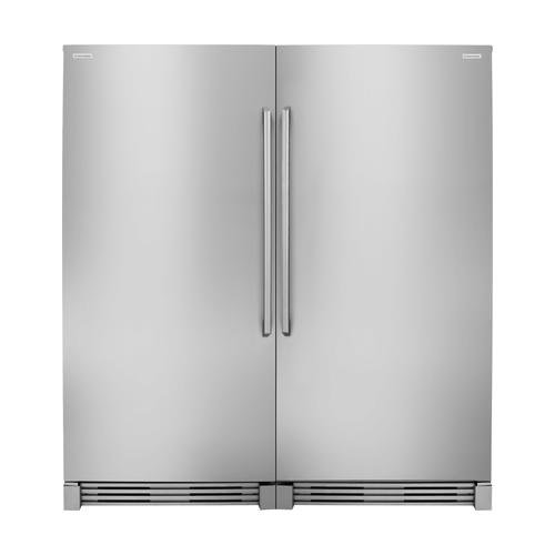 Electrolux 64″ Side-by-Side Refrigerator Set with Refrigerator Set with EI32AR80QS Built-In 32″ Refrigerator and EI32AF80QS 32″ Built-In Freezer in Stainless