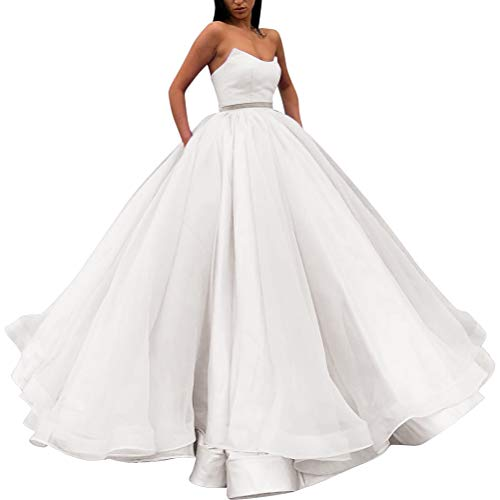 Vkbridaleu Donna Bianco Vestito Palloncino A gBwXxgqRr